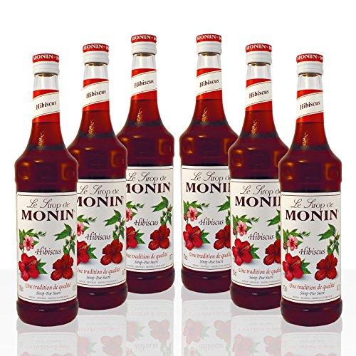 Monin Sirup Hibiskus, 0,7L 6er Pack