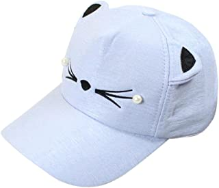 53369aa23a4 AMA(TM) Cat Ears Cap Fashion Tide Pearl Women Baseball Caps Cute Mini Cat