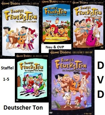 Familie Feuerstein, Staffel 1-5  (The Flintstones Collection) [25 DVDs]