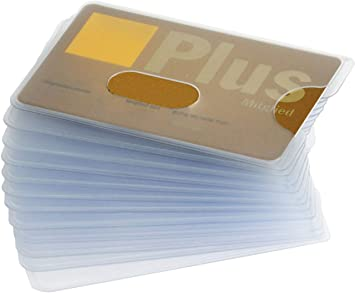 Card protective case robust plastic hole cut-out transparent card