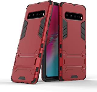 WindCase Galaxy S10 5G Case Dual Layer Shock-Absorption TPU +PC Hybrid Heavy Duty Armor Defender Protective Kickstand Case Cover for Samsung Galaxy S10 5G Red