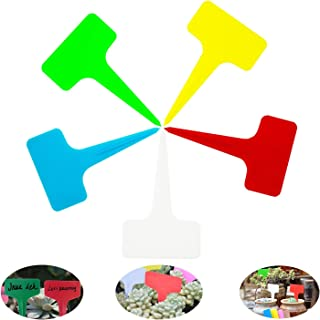 "Plant Labels 100 Pcs Plastic Reusable Multicolored Waterproof Plant Markers Plant Tags 2.36"" x 3.94"" (100PCS Multicolor)"