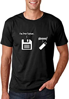 I Am Your Father - Noooo - Funny Retro USB and Floppy Disk Parody - Gift for a Geek Friend - Men's Tshirt