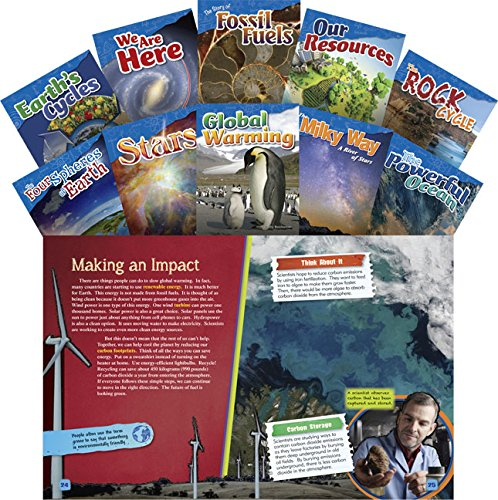 Teacher Created Materials - Science Readers: Content and Literacy: Let's Explore Earth & Space Science - 10 Book Set - Grades 4-5