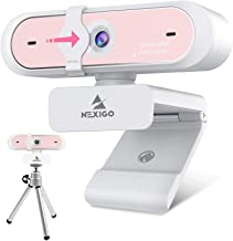 1080P 60FPS Streaming Webcam with Mini Tripod Kits, NexiGo AutoFocus FHD USB Web Camera with Privacy Cover and Microphone,...
