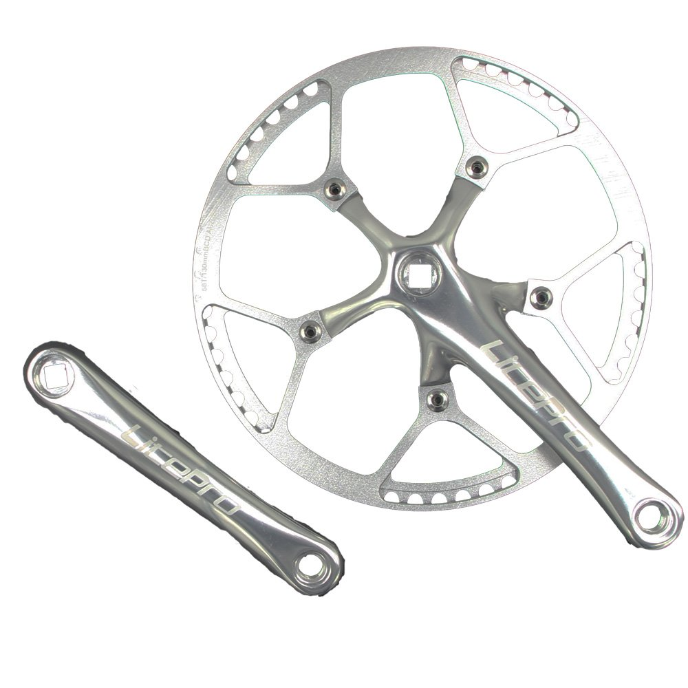 jnp 58T 58 Gear gran diámetro plegable bicicleta Bielas (platos ...