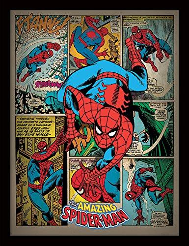 Spider-Man 30 x 40 cm Retro con Marco