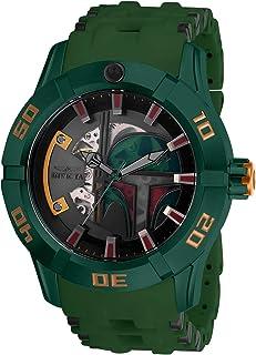 """Invicta""""Star Wars"""" Reloj automático de acero inoxidable y poliuretano para hombre, color: negro (Modelo: 26545)"""