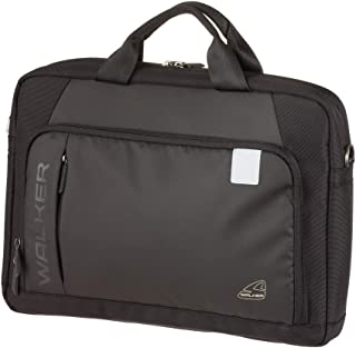 Walker Task Decent Black Unisex Laptop Bag with 3 Compartments for Carrying and Shoulder Approx. 40 x 29 x 16 cm 19 Litres...