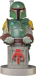 Exquisite Gaming - Cable Guy Boba Fett, Star Wars, Soporte de sujeción y carga para mando de consola y/o smartphone de tu personaje favorito con licencia de Disney, Producto con licencia oficial