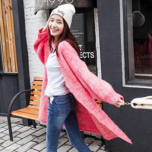 Xuanku Sauvage Féminine Version Longue Lache De La Veste voituredigan De Tricot Brut Rose Femmemean Code,vert8905