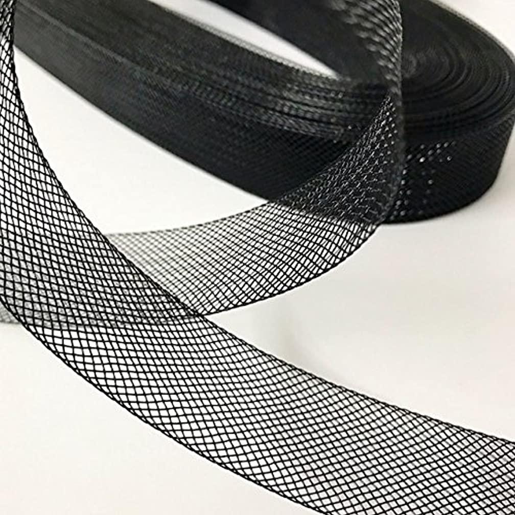 Top Trimming Black Stiff Polyester Horsehair Braid, Selling per Roll (1