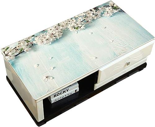 Hongsebuyi Tischdecke PVC Transparent Weißhplastik Tischdecke Antifouling Anti-Verbrühung Tee Tischdecke Kaffee Tischdecke Dicke 1,5 MM (Größe   90×120CM)