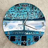 Ksnrang Los entusiastas de los vuelos recogen el Reloj de Pared de acrílico con patrón de Cabina Reloj de Pared Personalizado Reloj Nuevo Reloj de Pared