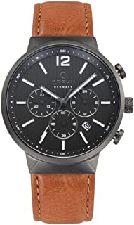 Obaku Men's Black Storm Guntan Watch V180Gcuurz, Analog Display, Quartz Movement