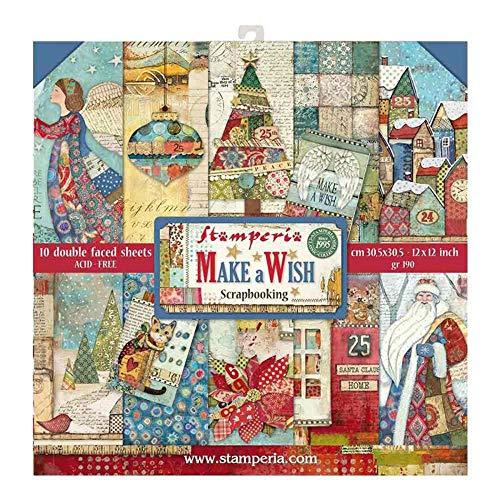 Stamperia Scrapbooking Papier Make a Wish 10/Pkg (30 x 30 cm)