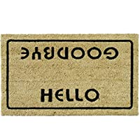 """Rubber-Cal """"Hello, Welcome Goodbye Funny Doormat, 18 x 30-Inch"""