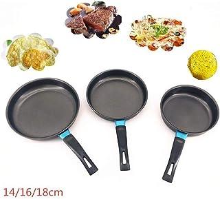 ASDFGH 14/16 / X18Cm Antiadherente Sartén de Cocina de inducción Universal Pequeño Sartén Pan Pan Mini Crepe Inicio (Sheet Size : 16CM Diameter)