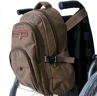 RANRANHOME Rullstolsväska rullstol canvasväska sidopåse korg förvaring organisatör