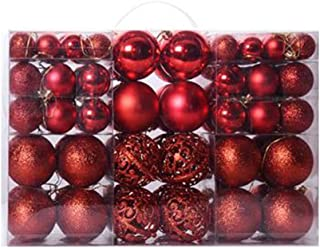 Christmas Balls Ornaments 100Pcs, Shatterproof Christmas Ball Set Decorative Baubles Pendants with Reusable Hand-held Gift...