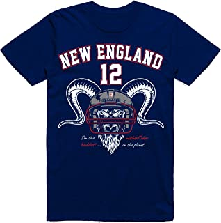 Vibeink The New England Football Goat - Greatest of All Time - Classic T-Shirt