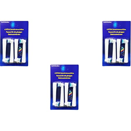 ブラウン EB17-4 オーラルB 互換 替えブラシ 4本入りx3セット=12本 ソフトブラシ(EB17-4)