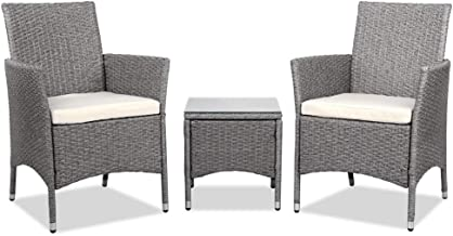 Gardeon Rattan Outdoor Chair Furniture Set with Table