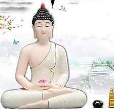 Decoration Buddha Statue Meditation Statue Lucky Buddha Statue Religious Supplies Home Decoration 23×30cm Craft Ornament B...