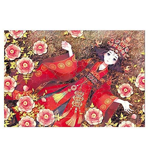 CHUAN YUAN-PHOTO Puzzle Aus Holz Erwachsene Kinder Puzzle Dekompression Spielzeug-Karikatur Anime-Serie Puzzle Brautkleid Mädchen Prinzessin Und White Horse 520 Stück (Color : Wedding Girl)