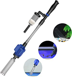 NICREW Power VAC Plus Electric Gravel Cleaner, Automatic Aquarium Cleaner with Sponge Filter, 3 in 1 Aquarium Vacuum Gravel Cleaner for Medium and Large Tanks