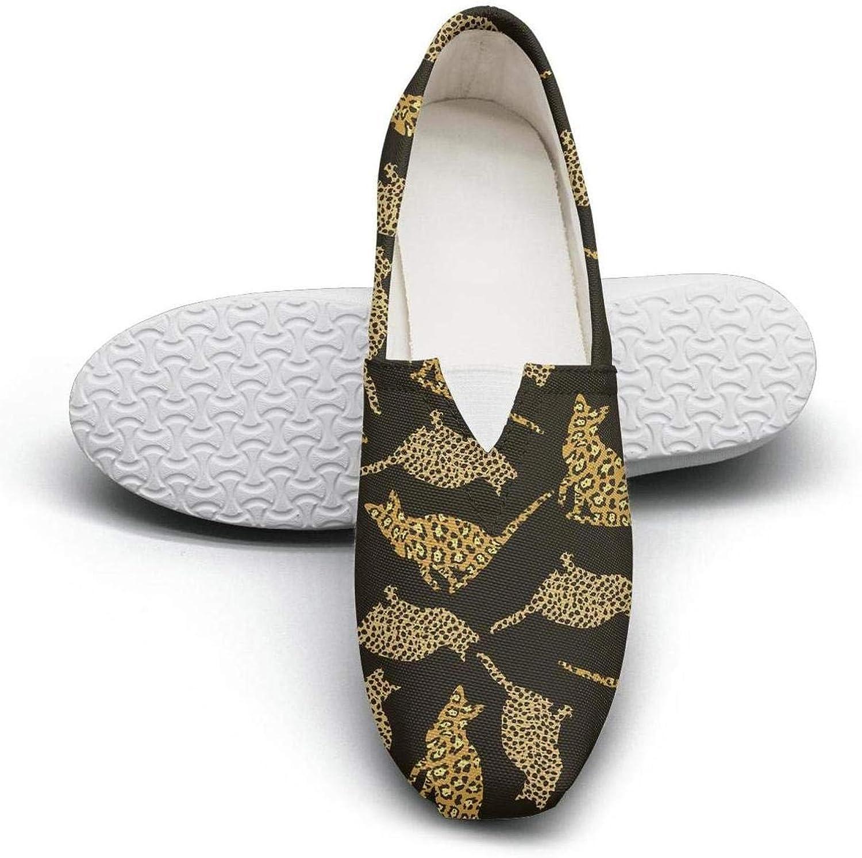 Leopard Animal Texture Seasonal Classics Women's Extra Light Flat Boat shoes Girls Espadrille Flats