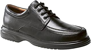 Roamers Lowell Cuero Hombre Ancho Ajuste E Zapatos Negros