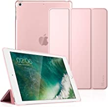 Fintie Case for iPad 9.7 2018/2017, iPad Air 2, iPad Air - Lightweight Slim Shell Cover with Translucent Frosted Back Protector Supports Auto Wake/Sleep for iPad 6th / 5th Gen, iPad Air 1/2, Rose Gold
