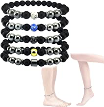 5pcs Anti Varicose and Swelling Anklet, Adjustable Magnetic Bracelet Relief for Weight Loss/Anxiety Relief