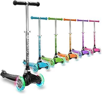 3StyleScooters® RGS-1 Patinete de Tres Ruedas para Niños Pequeños Niños de 3 Años o Más - con Luces LED en Las Ruedas - Diseño Plegable - Manillar ...