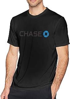 Jingliyu Man Casual JPMorgan Chase Bank Logo Round Neck Tee T-Shirts