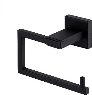 KES Matte Black Toilet Paper Roll Holder Toilet Tissue Holder Dispenser Rustproof SUS 304 Stainless Steel Modern Square St...