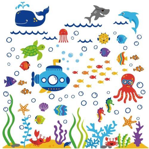 The Deep Blue Sea Decorative Peel & Stick Wall Art Sticker Decals