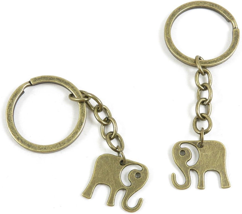 200 Pieces Fashion Jewelry Keyring Keychain Door Car Key Tag Ring Chain Supplier Supply Wholesale Bulk Lots N1TS2 Cute Elephant