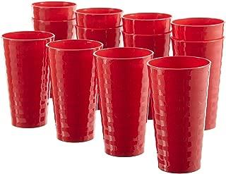 Splash 20-ounce Unbreakable Plastic Tumblers | set of 12 Red