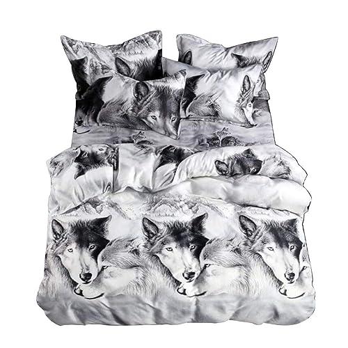 2 / 3pcs Juego de ropa de cama Juego de sábanas de impresión de 3D Ropa
