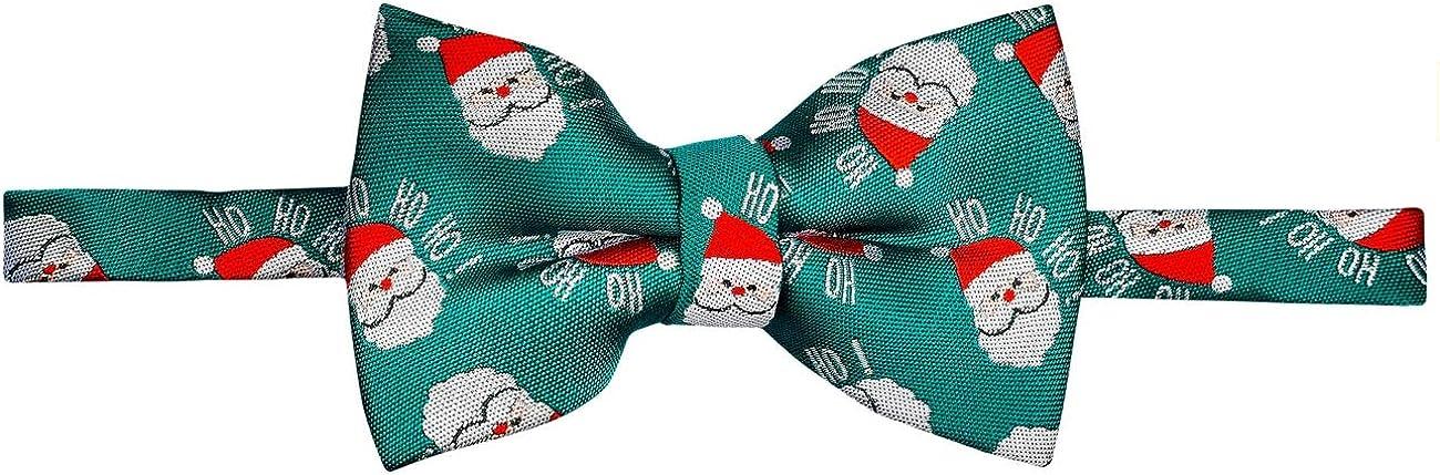 Retreez Boys Suspender Bow Tie Set Christmas Happy Santa Claus Pre-Tied Bow Tie