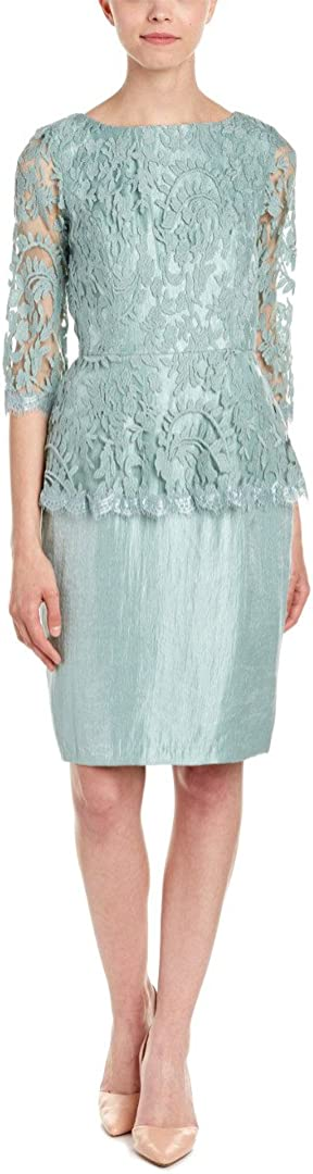 Adrianna Papell Women's Floral Embroidered Peplum Dress