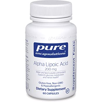 Pure Encapsulations Alpha Lipoic Acid 200 mg   ALA Supplement for Liver Support, Antioxidants, Nerve and Cardiovascular Health, Free Radicals, and Glucose Support*   60 Capsules