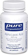Pure Encapsulations - Alpha Lipoic Acid 200 mg - Hypoallergenic Water- and Lipid-Soluble Antioxidant Supplement - 60 Capsules