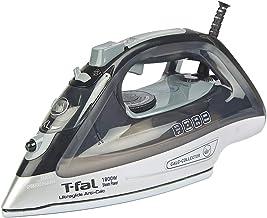 T-fal Plancha FV2641X0 Ultraglide Anti-cal, con suela de tecnologia Durilium Airglide para un desplizamiento perfecto, elegante color negro