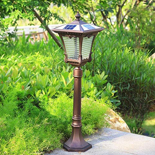 GJNVBDZSF Luz de Poste Solar Retro Iluminación de jardín en casa Luz de Poste de Aluminio LED Luces de Calle comunitarias Resistentes al Calor a Prueba de Agua Luces de Camino de Parque