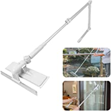 Window Cleaning Brush with Extended Handle,Hamkaw Multifunctional U-Shaped Retractable High-Rise Glass Cleaning Wipe Squeegee with 180ツー Rotating Head - Long Window Cleaner Tool