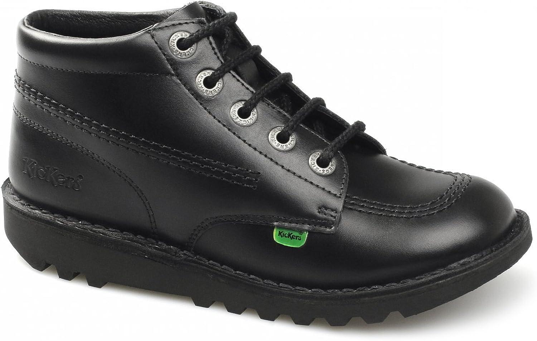 KICK HI M CORE Mens Leather Lace-Up Boots Black