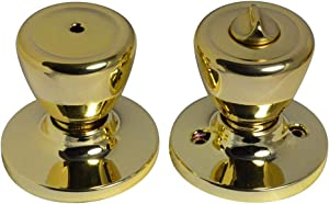 Weslock 00210T3T3FR20 Tulip Privacy Lock with Adjustable Backset and Full Lip Strike Bright Brass Finish